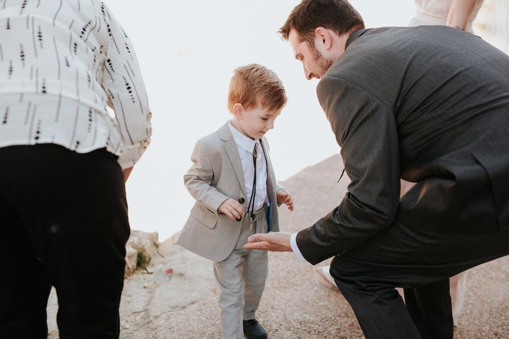 Little boy at Chapel Dulcinea wedding