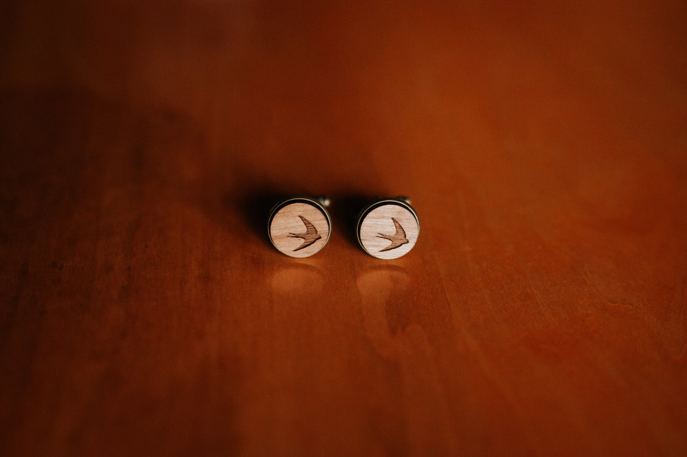 Groom's cufflinks at Texas hill country wedding