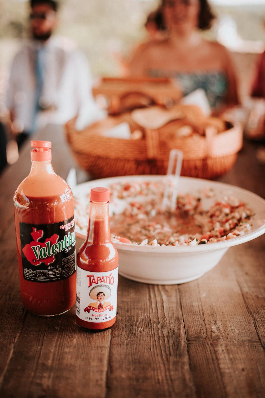 Food at River House at Pedernales