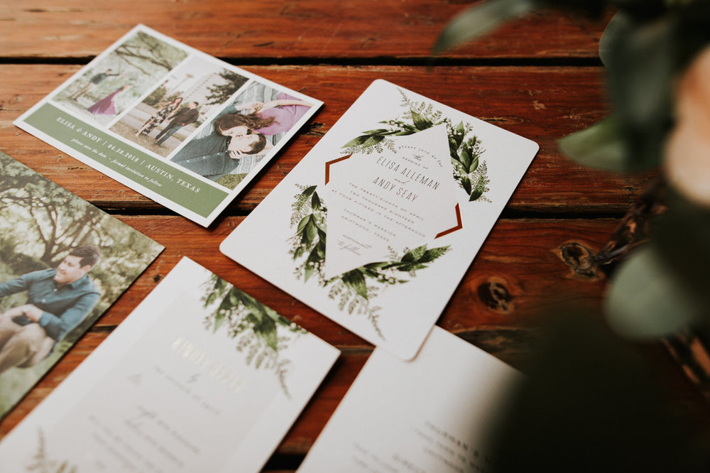 Thurman's Mansion wedding stationary