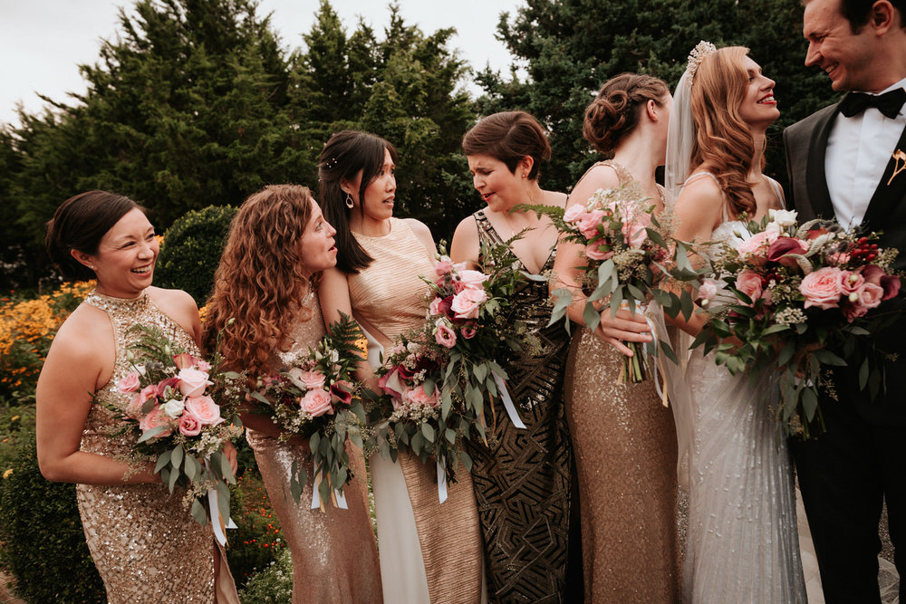 Bridal party at Eolia Mansion Wedding