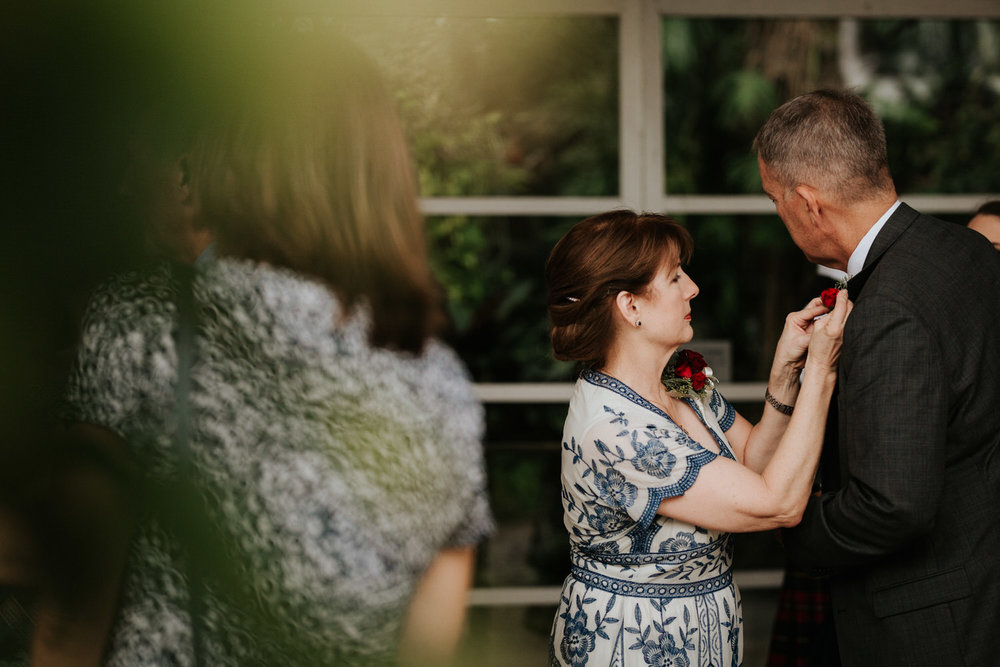 Guests at San Antonio Botanical Garden Wedding