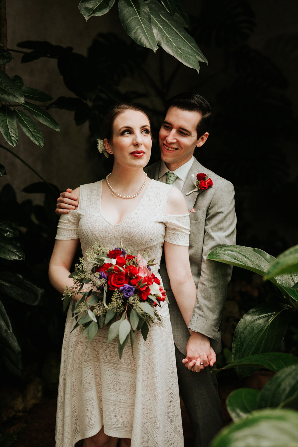 Rainy San Antonio Botanical Garden Wedding