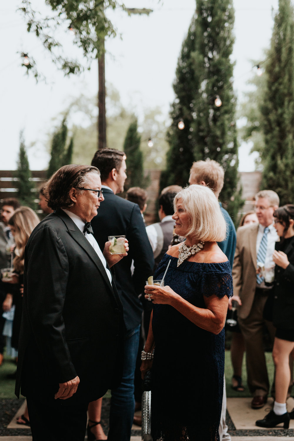 Guests at One Eleven East wedding