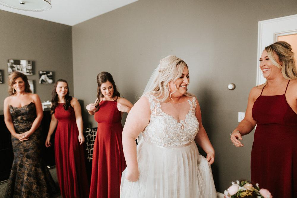 Bridal party at Schenectady wedding