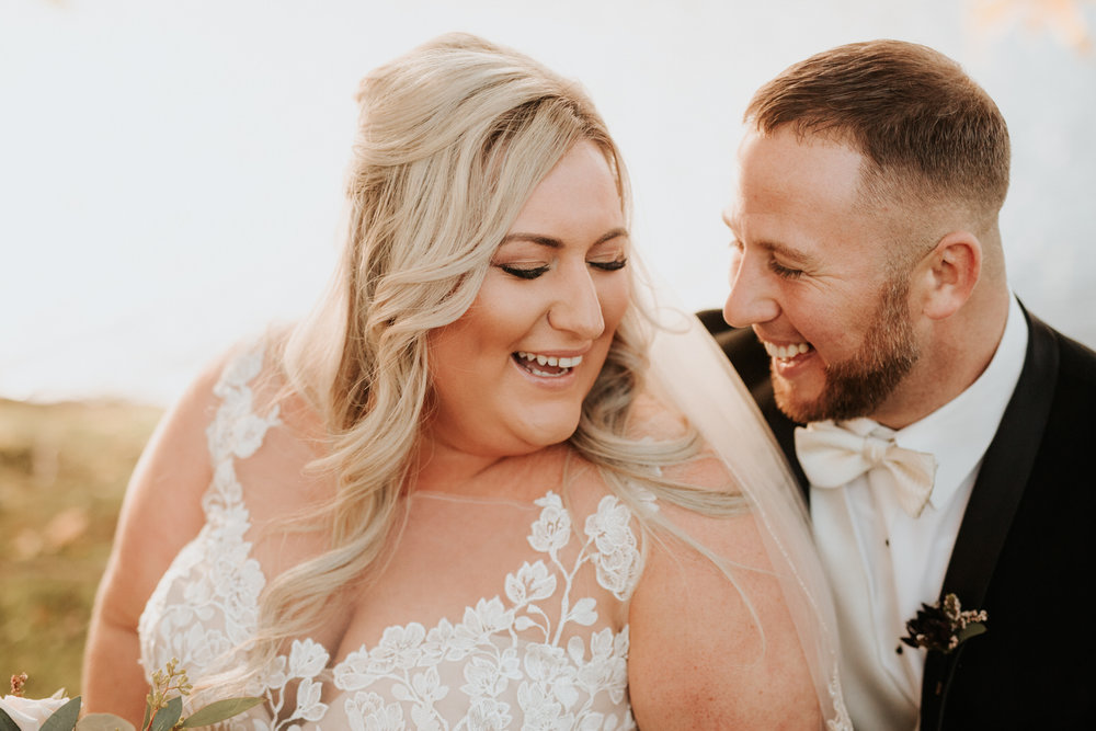 Bride and groom at Schenectady wedding