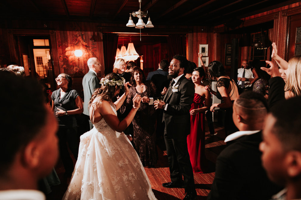 Upstate New York Catskills wedding reception photography