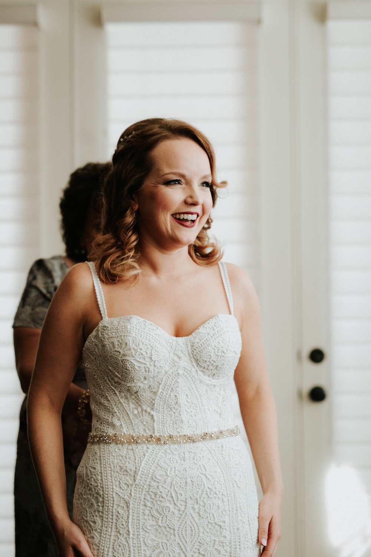 Austin luxury backyard wedding getting ready photos