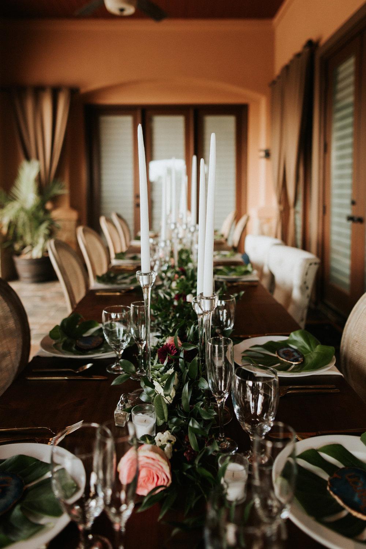 Austin luxury backyard wedding place setting