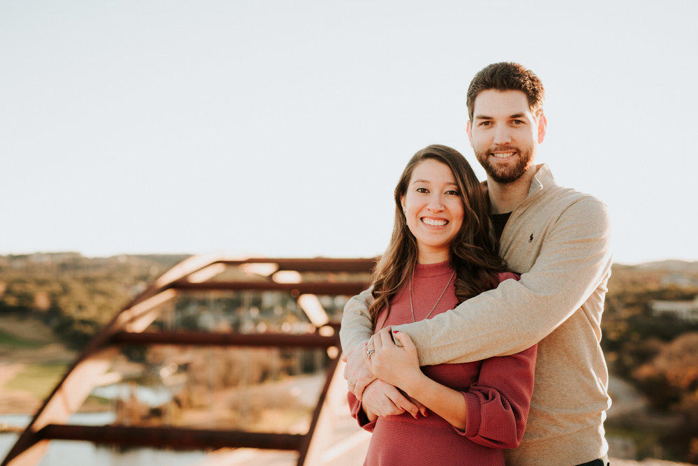 Pennybacker bridge anniversary shoot