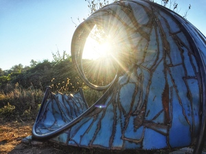 Sacred Spiral Sunset Viewing Sculpture, 2014