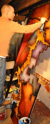 ben Painting LAke Coeur d'alene