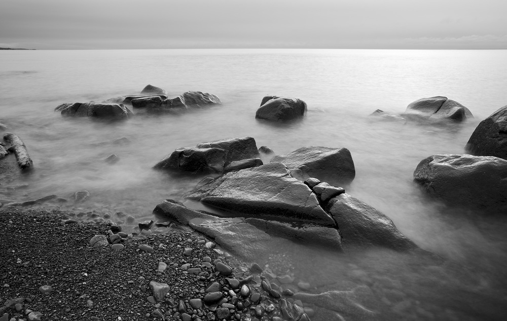 A Superior Monochrome - North Shore of Lake Superior, MN    Canon 5D Mark iii + Canon 17-40L w/ Variable ND Filter