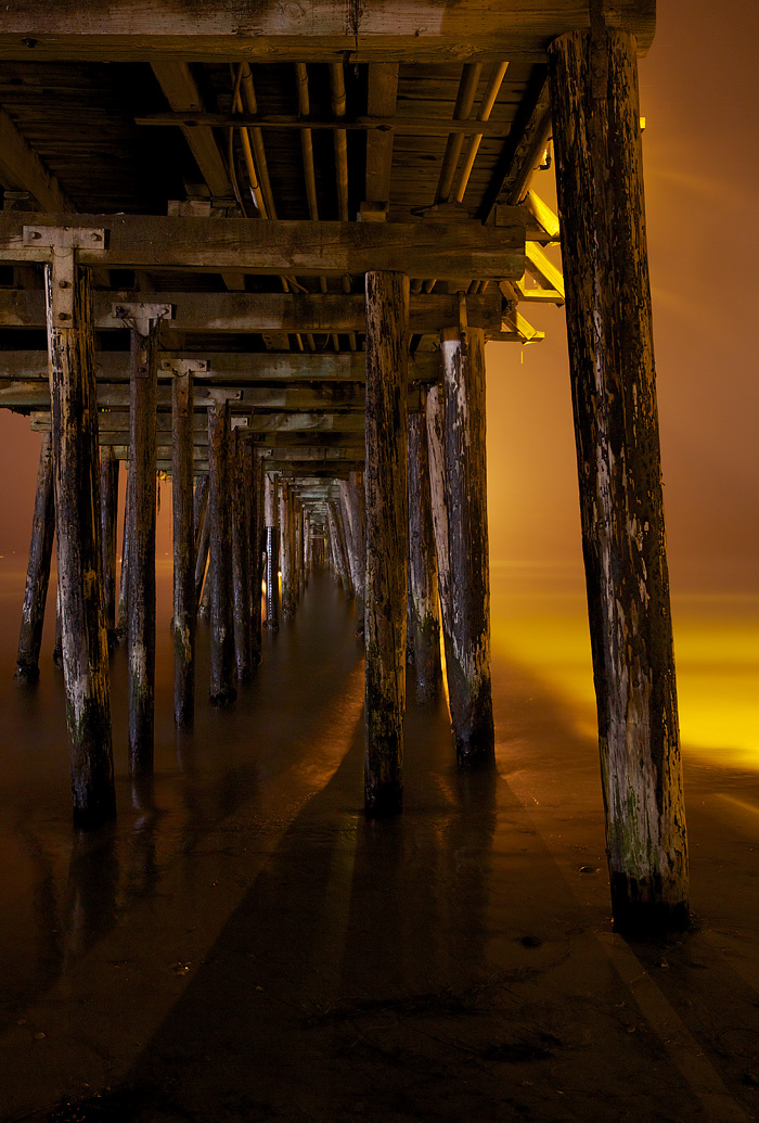 A Night below the Capitola Pier - Capitola, CA    Canon 5D Mark III + 17-40mmL @ f/16