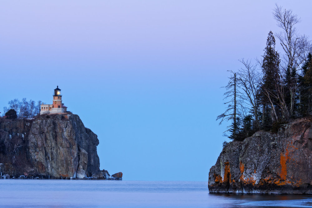 Split Rock after Dark - Lake Superior, MN Nikon D810 + Nikon 70-200mm f/2.8 VRII