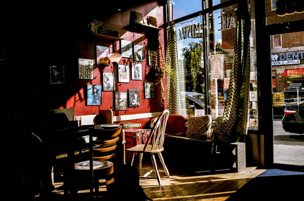 """Cafe Mustache"" | Nikon FE2 | Nikkor 35mm f/8 1/125 | Kodak Gold 200"