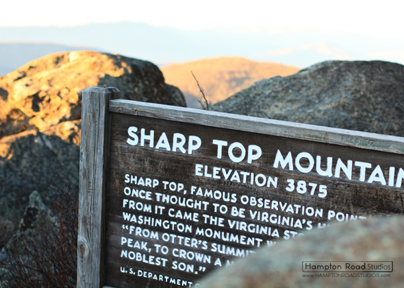 Sharp Top Mountain in Virginia - Elevation 3875 ft.