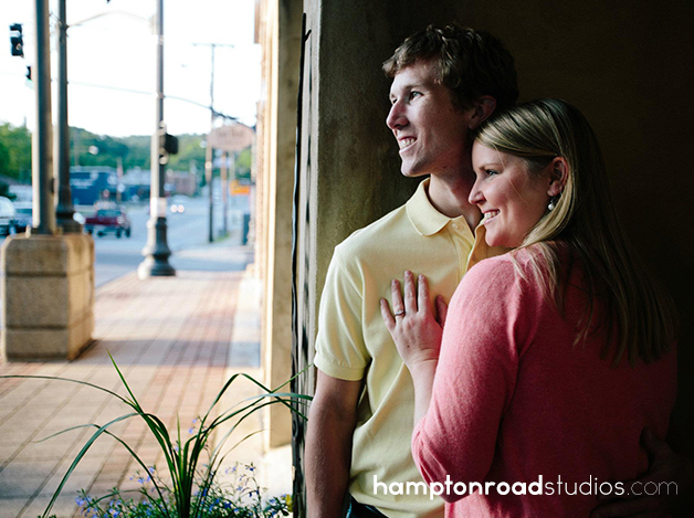 engagement downtown doorway