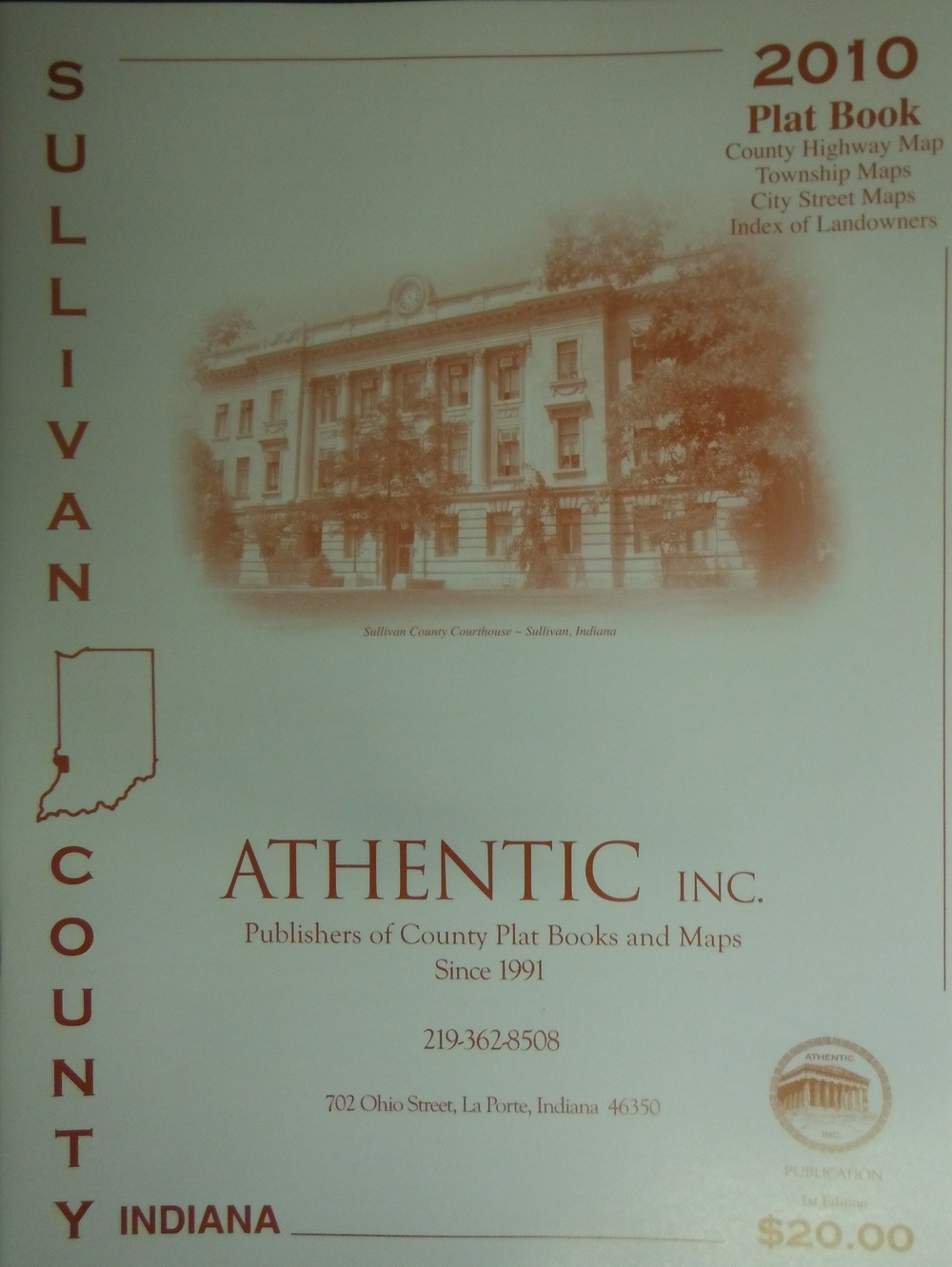Sullivan County Plat Book $20.00
