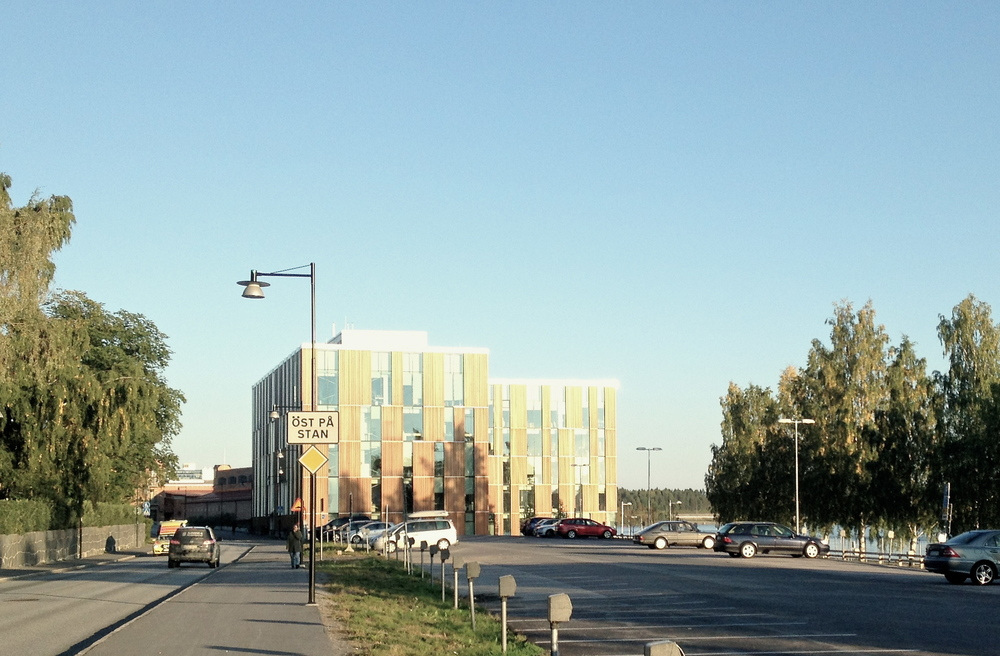 My first view of the Umeå Design Campus