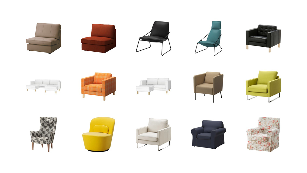 Ikea sells more than 65 comfortable chairs on their website all of which have their own look and personality – but none of them actually speaks to you.
