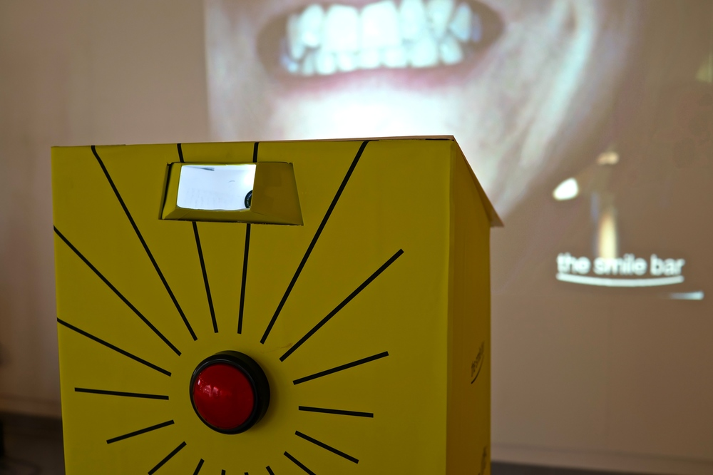 The Smile Bar installation