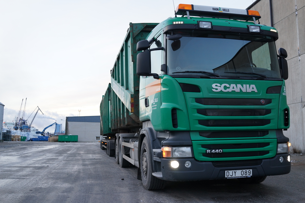 A photograph of the Scania truck of today, that I was able to sit in during our user research.