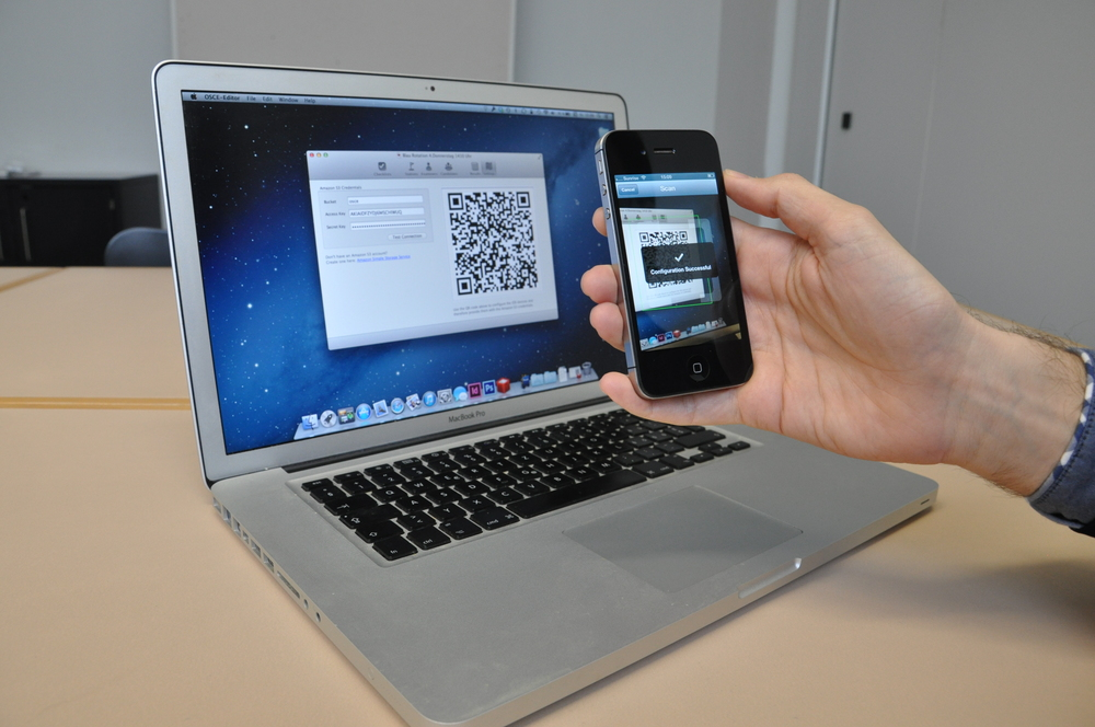 One way to deal with the issue of configuring iPads and iPhones was to come up with a solution that relied on scanning a QR code to automatically set up a device for an examiner. This was also useful to replace an iPad in case they were to drop it.
