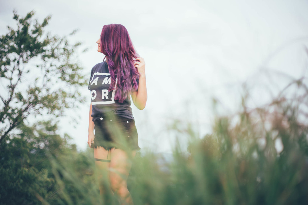 Amor - Love - Purple Hair - Tattoos