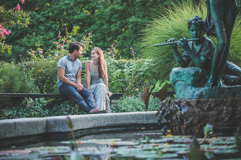nyc - central park - engagement session - spring