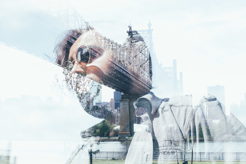 double exposure - lic waterfront