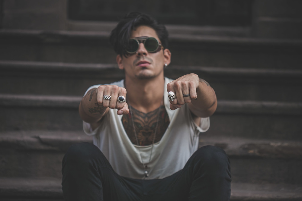 steampunk - skull ring - tattoos - menswear
