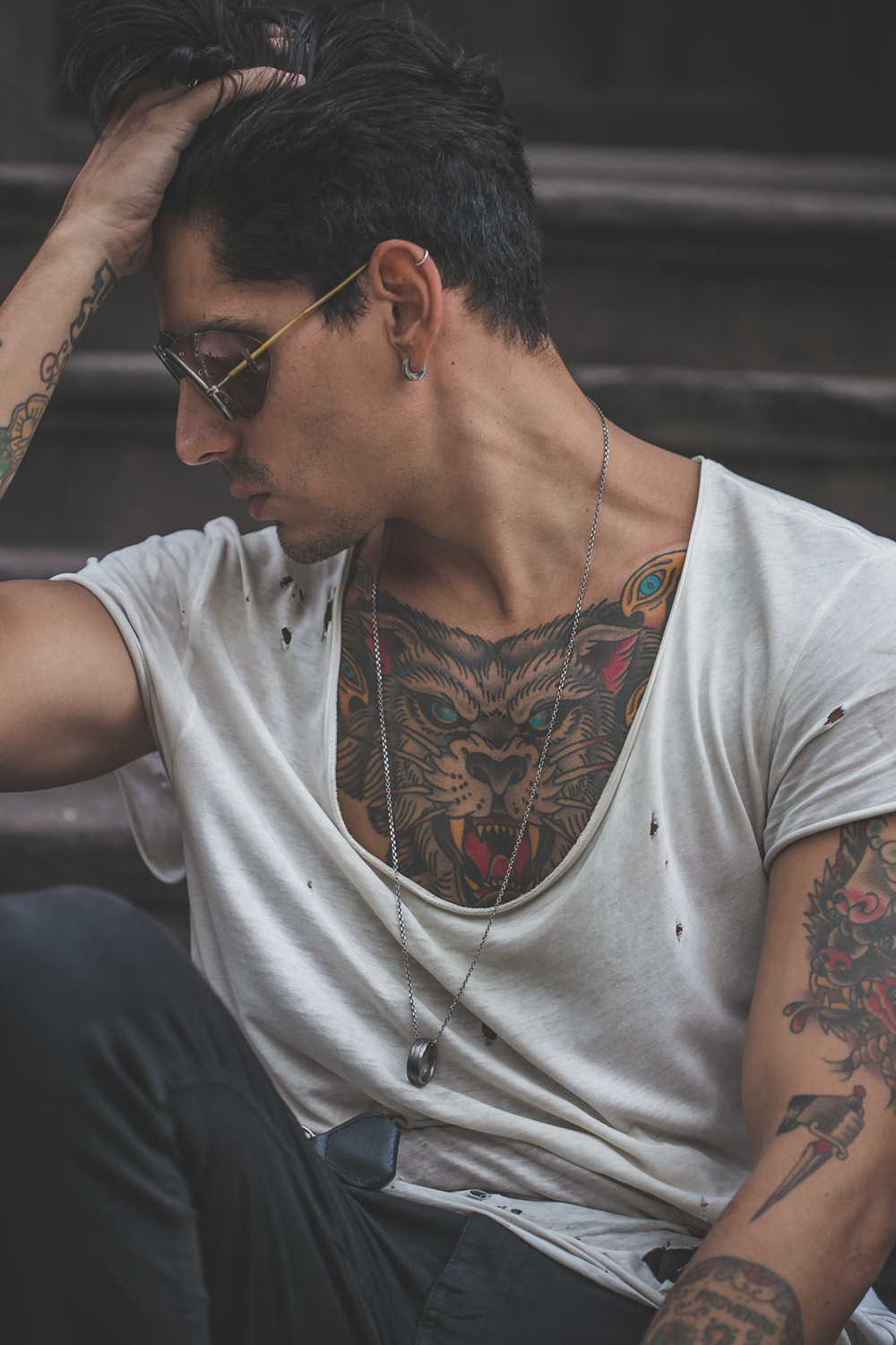steampunk - tattoos - menswear