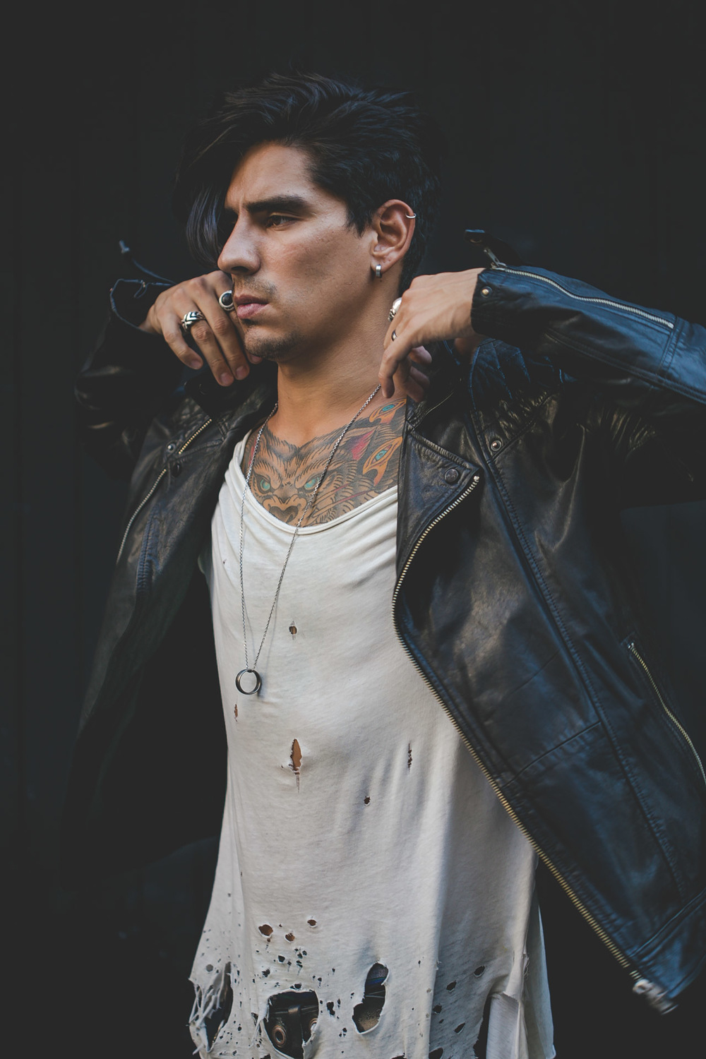 leather - tattoos - menswear