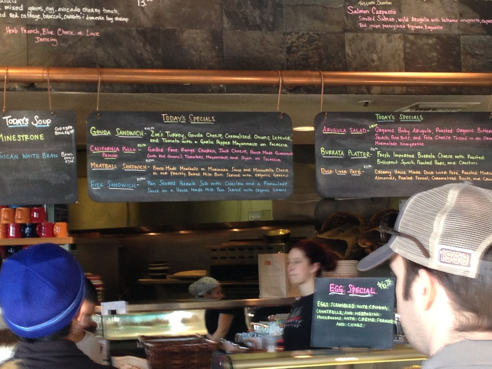 complex food information served duly categorized and color-coded at a popular Menlo Park restaurant
