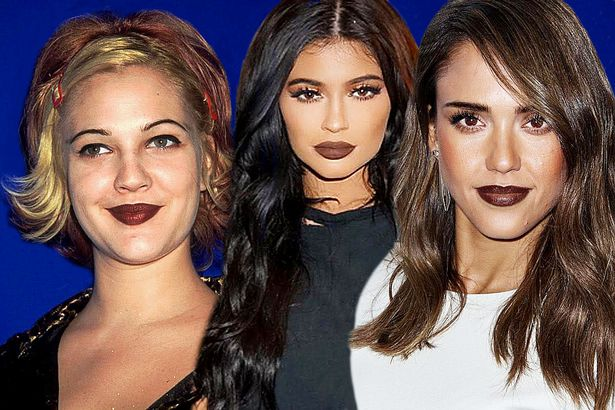 Drew-Barrymore-Kylie-Jenner-and-Jessica-Alba-wearing-brown-lipstick-MAIN.jpg