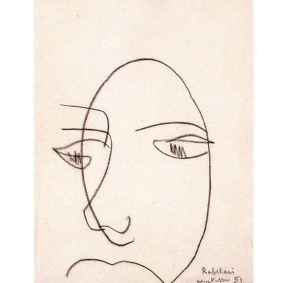 Portrait de Raelais by Matisse (1951)