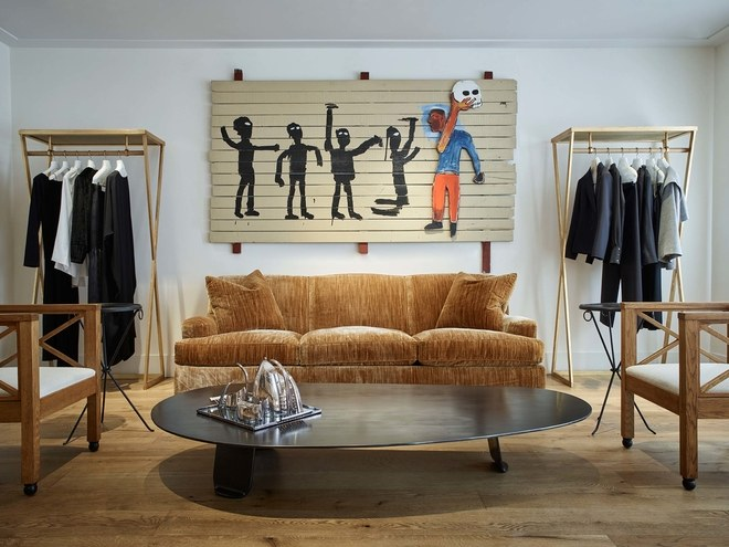 Jean-Michel Basquiat's painting hangs in this room