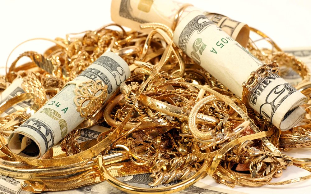 Gold Jewelry With Cash