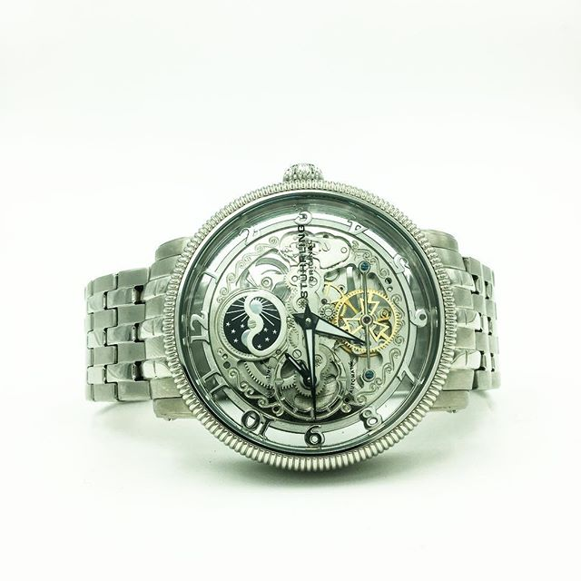 What a beauty! #stuhrling #watch #wristwatch #mechanical #automatic #skeleton #photography #productphotography #worldpawn #coosbay #oregon #pawn #pawnshop