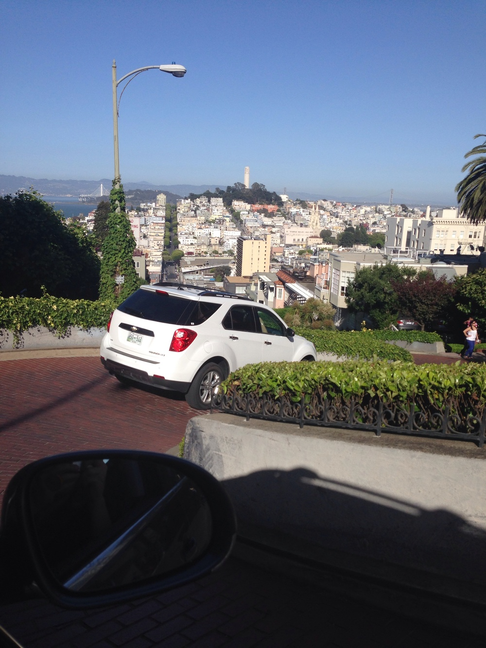 Lombard. I know it's ridiculous but it is a cool street! Swarming with tourists!