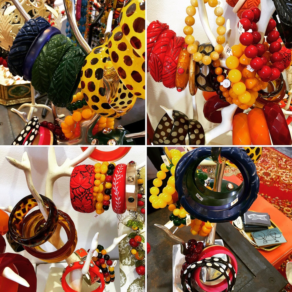 Bangles galore! Some are our creations, some are vintage...