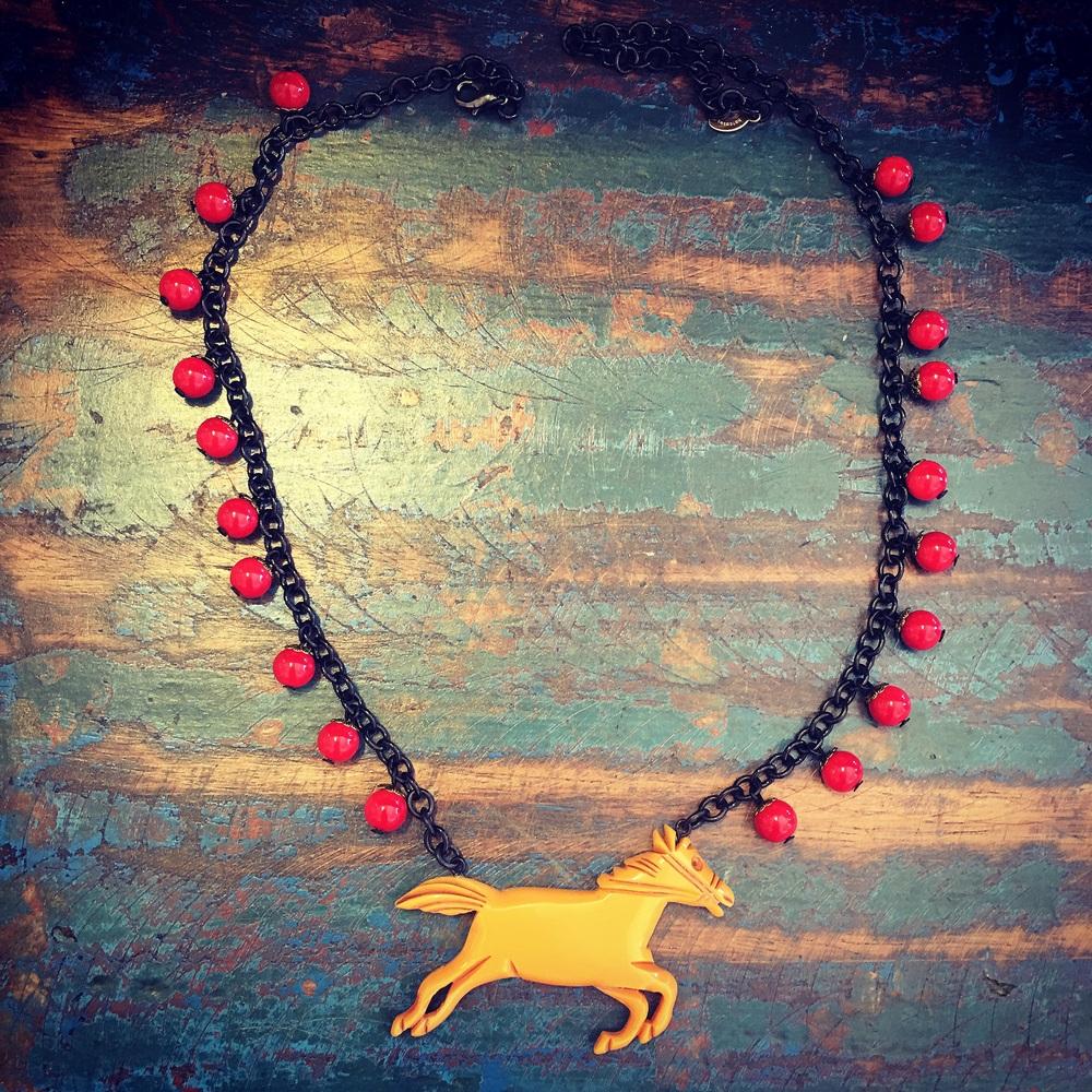 Butterscotch horse necklace!