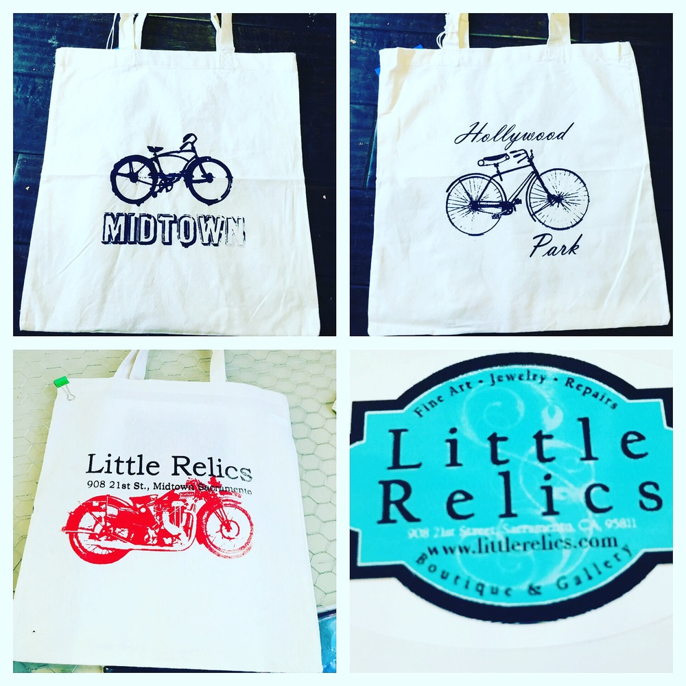 Locally made grocery bags