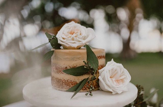 Wedding cakes are always better with sweet layers and delicate flowers. 📷: @chelseaabril #northshoreflowers #summerwedding