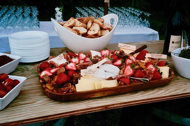 A cheese lover's dream #charcuterieboard #freshfruit #wine #feelinfine
