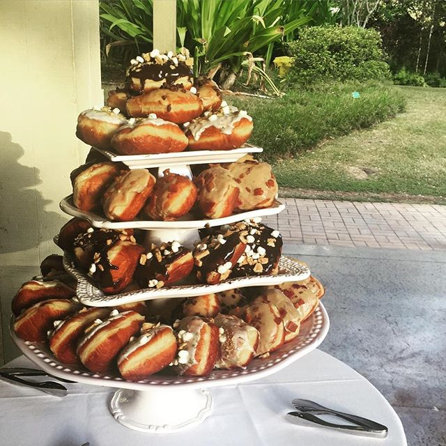 Have a delicious weekend @waimeavalleyoahu #donuttower #smoresdonut #baconmapledonut #treatyourself #at #waimeavalley