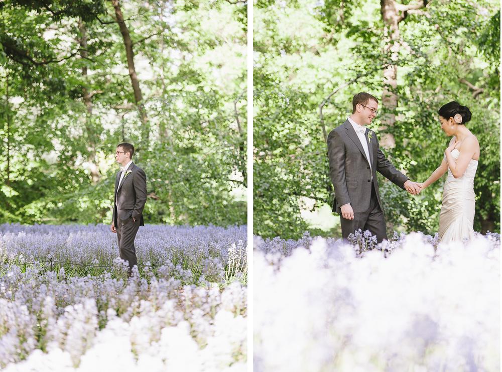 Brooklyn Botanic Garden Wedding First Look