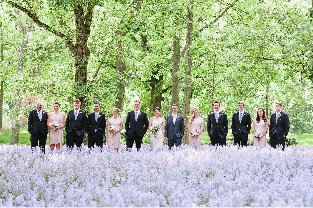 Brooklyn Botanic Garden Wedding Bridal Party