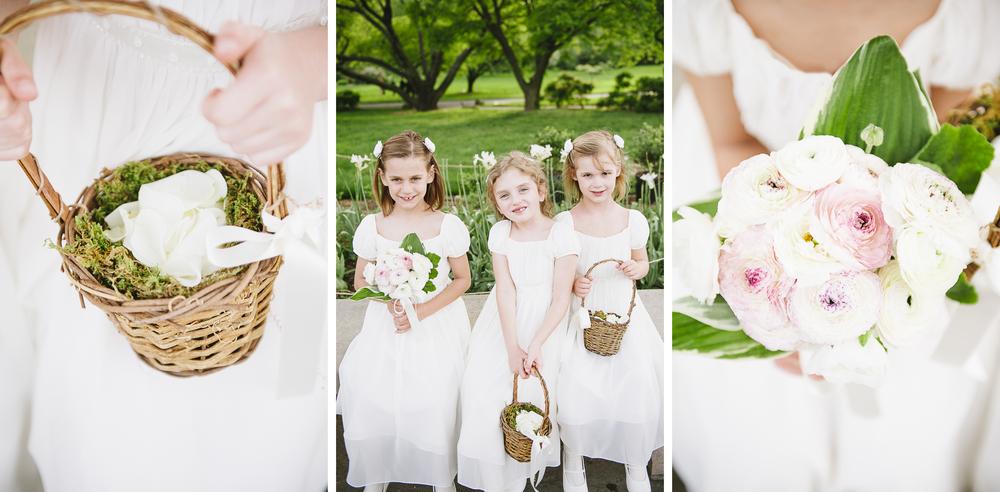 Brooklyn Botanic Garden Wedding Flower Girls
